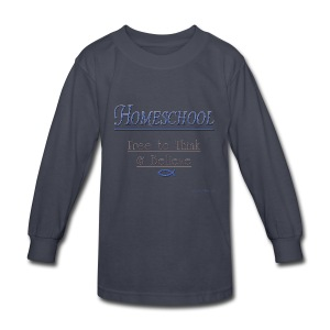 Homeschool Freedom - Kids' Long Sleeve T-Shirt
