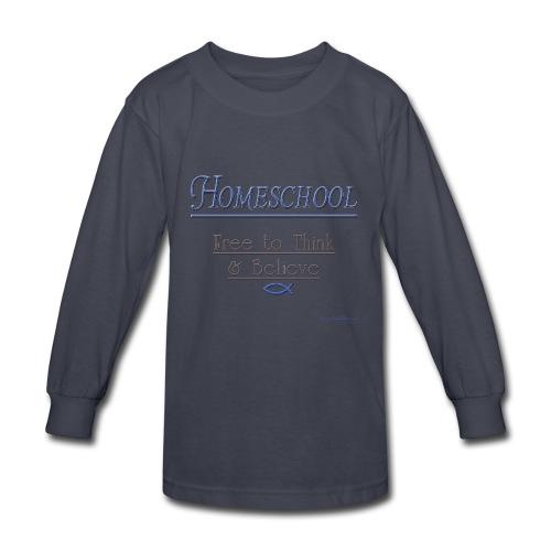 Homeschool Freedom - Kids' Long Sleeve T-Shirt