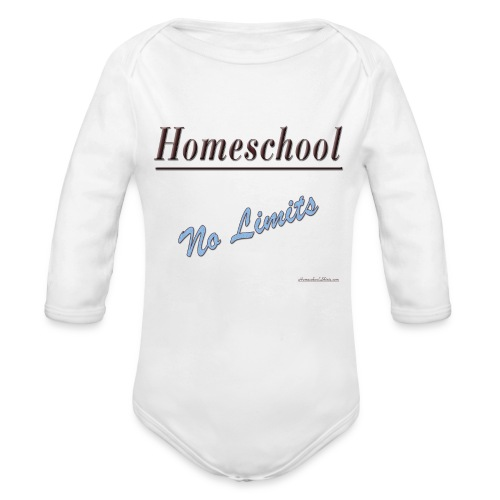 No Limits Homeschool - Organic Long Sleeve Baby Bodysuit