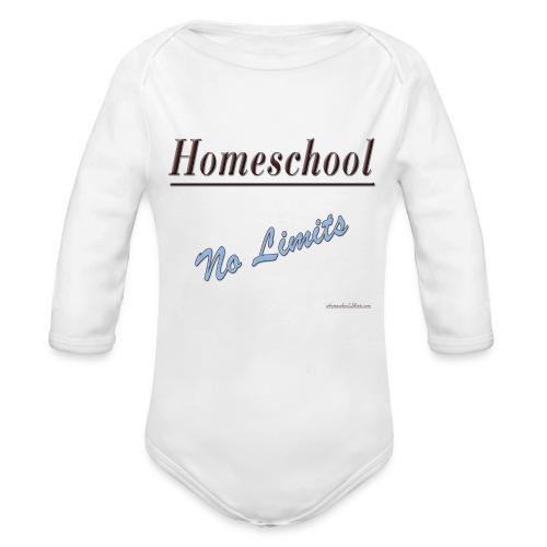 No Limits Homeschool - Organic Long Sleeve Baby Bodysuit