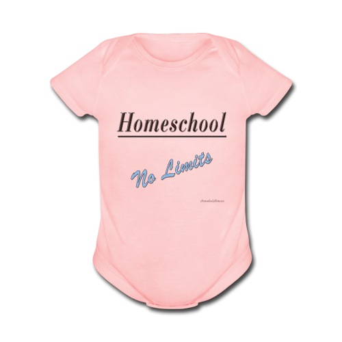 No Limits Homeschool - Organic Short Sleeve Baby Bodysuit