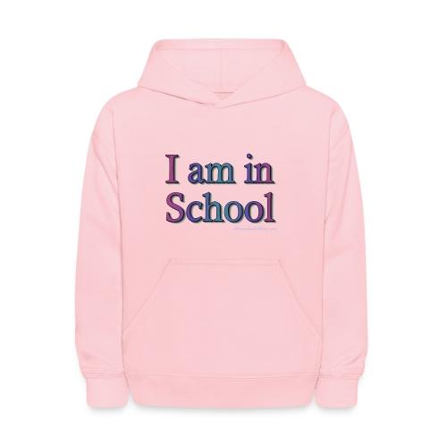 I Am In School Purple/Blue - Kids' Hoodie