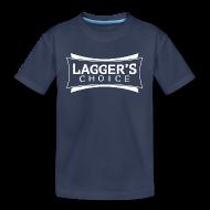 Baby & Toddler Shirts ~ Toddler Premium T-Shirt ~ LC Navy Tee White