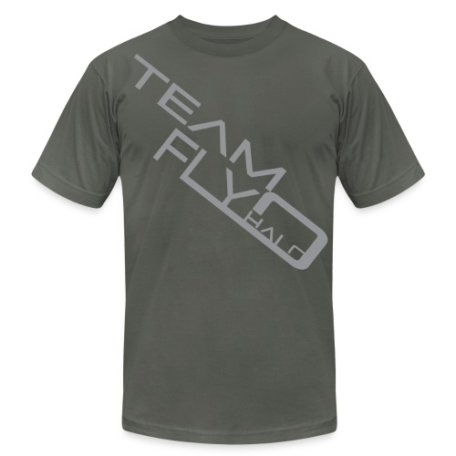 fly halo vector dark gray angled2.png - Men's Fine Jersey T-Shirt
