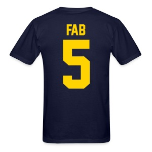 Fab 5 (Back) - Men's T-Shirt