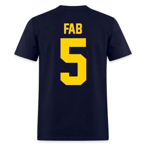 Fab 5 (Back) - Men's T-Shirt