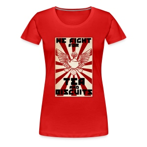 Tea and Biscuits - Lady Version ;) - Women's Premium T-Shirt