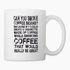 Smoke Coffee Drink Coffee Funny Joke Humor Bottles & Mugs