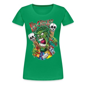 KidCrusher - Green Grinch - Women's Premium T-Shirt
