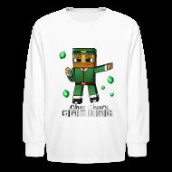 Kids' Shirts ~ Kids' Long Sleeve T-Shirt ~ Choo Choo's Gaming Kids Long Sleeved Shirt