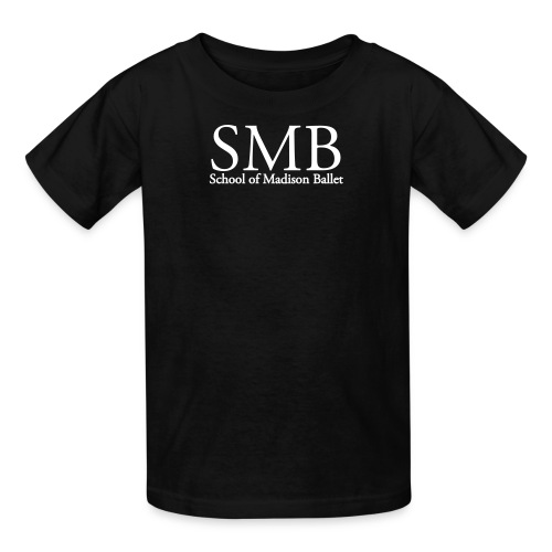 School of Madison Ballet Kid's Tee (Black/White) - Kids' T-Shirt