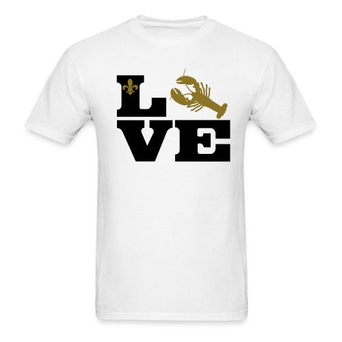 I Love Crawfish - Gold - Men's T-Shirt