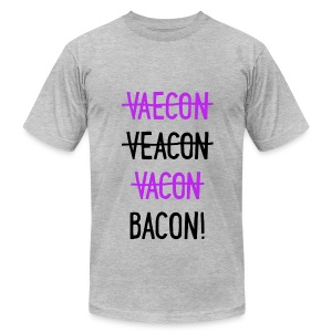 Vaecon Likes Bacon - Men's T-Shirt by American Apparel