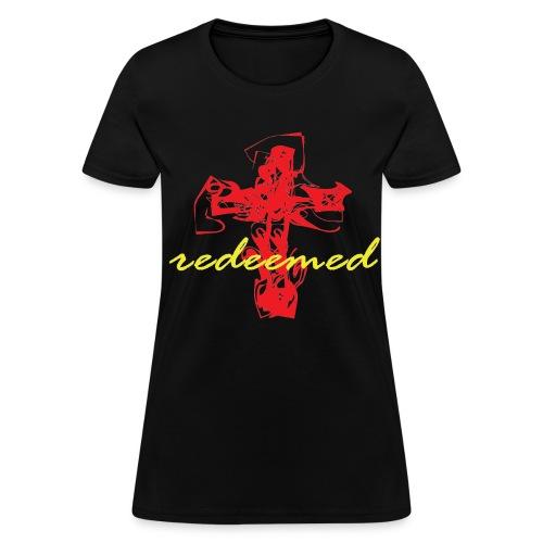 Redeemed (black/red/yellow) - Women's T-Shirt
