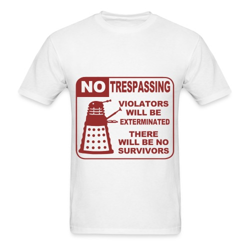 Dr Who - No Trespassing - Men's T-Shirt