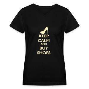 Womens V Neck Shoes - Women's V-Neck T-Shirt