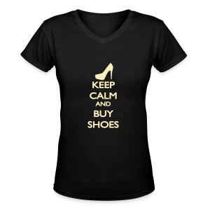 Womens V Neck Shoes - Women's V-Neck T-Shirt