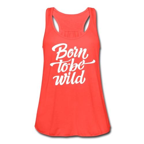 Born To Be Wild Flowy Tank in Coral - Women's Flowy Tank Top by Bella