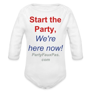 Start the Party! - Long Sleeve Baby Bodysuit