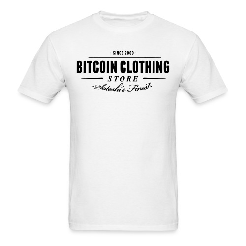Bitcoin Clothing White T Shirt - Men's T-Shirt