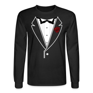 Classy Fella Long Sleeve w/ White Lines - Men's Long Sleeve T-Shirt