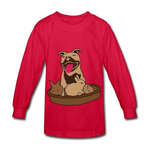 Easter Pitbull Bunny Kid Long Sleeve-T-Shirt - Kids' Long Sleeve T-Shirt