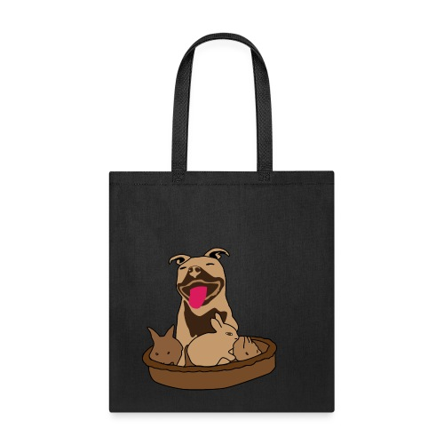 Easter Pitbull Bunny Bag - Tote Bag