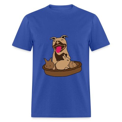 Easter Pitbull Bunny Men T-Shirt - Men's T-Shirt