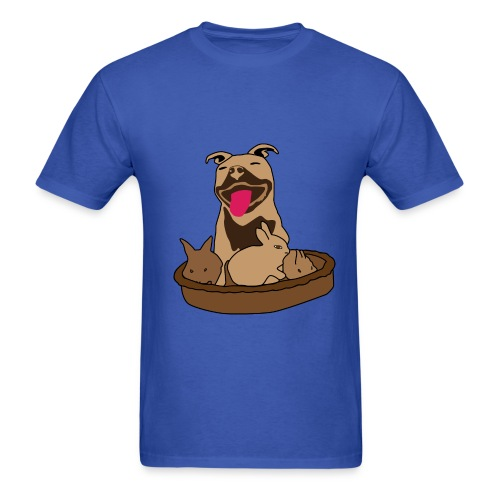 Easter Pitbull Bunny Men T-Shirt - Men's T-Shirt
