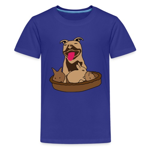 Easter Pitbull Bunny Kid's T-Shirt - Kids' Premium T-Shirt