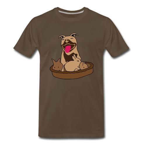 Easter Pitbull Bunny Men Premium T-Shirt - Men's Premium T-Shirt