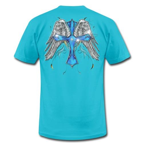 Winged Cross - Men's Fine Jersey T-Shirt
