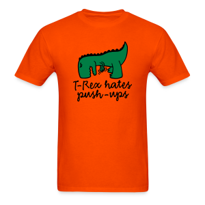 t-rex push ups orange