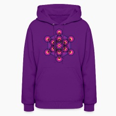 Metatron's Cube Women's Hooded Sweatshirt