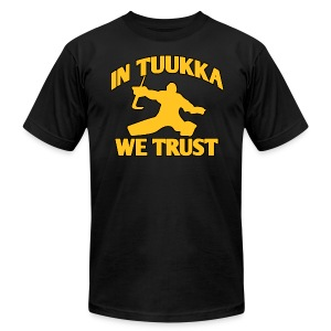 In Tuukka We Trust - Men's T-Shirt by American Apparel