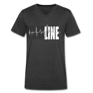 Flatline - Men's V-Neck T-Shirt by Canvas