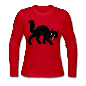 cat - Women's Long Sleeve Jersey T-Shirt
