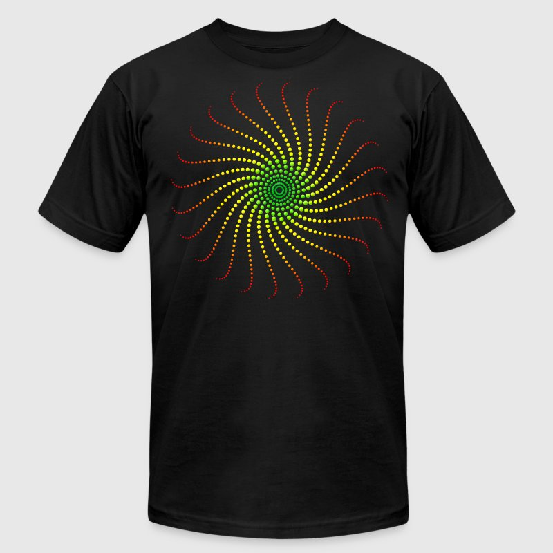 Reggae Music Energy Spiral Rastafari Jah Jamaica T-Shirts - Men's T-Shirt by American Apparel