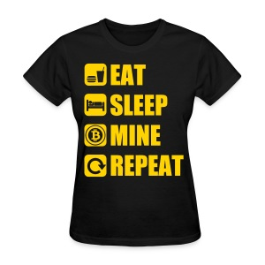 Eat Sleep Bitcoin Black T Shirt - Women's T-Shirt