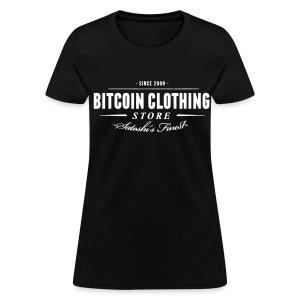 Bitcoin Store Black T Shirt - Women's T-Shirt