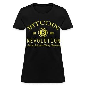 Bitcoin Revolution Black T Shirt - Women's T-Shirt