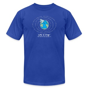 Global Crap Logo - Mens T-shirt by American Apparel - Men's Fine Jersey T-Shirt