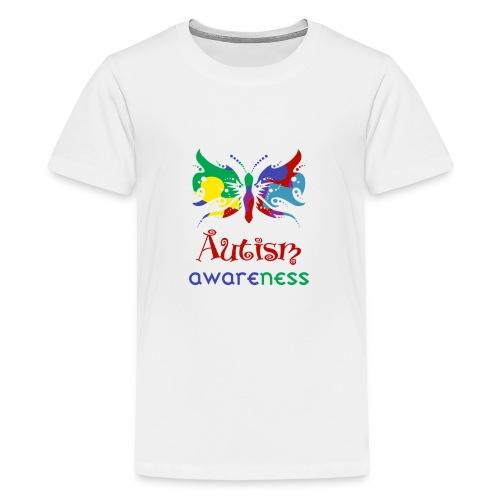 Autism Awareness Butterfly - Kids' Premium T-Shirt