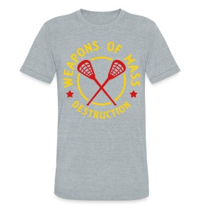 Lacrosse Weapons of Mass Destruction T-Shirt - Unisex Tri-Blend T-Shirt by American Apparel