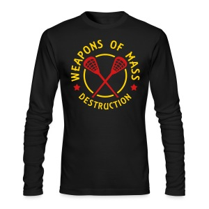 Lacrosse Weapons of Mass Destruction Tee - Men's Long Sleeve T-Shirt by Next Level