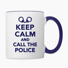 Keep calm call the Police Bottles & Mugs