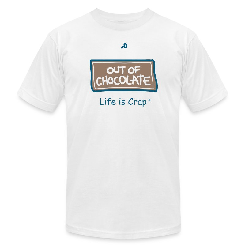 Out of Chocolate - Men's T-shirt by American Apparel - Men's Fine Jersey T-Shirt