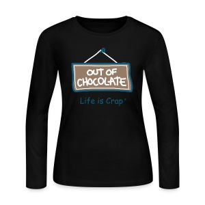 Out of Chocolate - Womens Long Sleve T-shirt  - Women's Long Sleeve Jersey T-Shirt