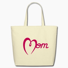 Mom with Heart Bags & backpacks