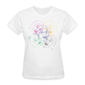 CLUSTERFUCK FACES WOMEN SUBSPECIES  - Women's T-Shirt